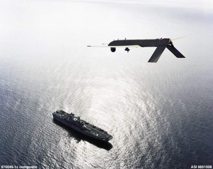 IGNAT UAV flying above USS Tarawa