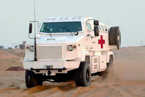 Shrek EOD can be customised to be used as an ambulance. Image: courtesy of Streit Group.
