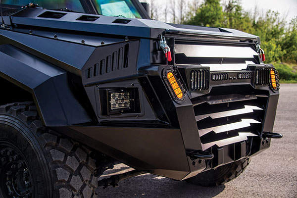 The vehicle is fitted with a 6.7-litre V8 turbocharged diesel engine. Image: courtesy of INKAS Armoured Vehicle Manufacturing.
