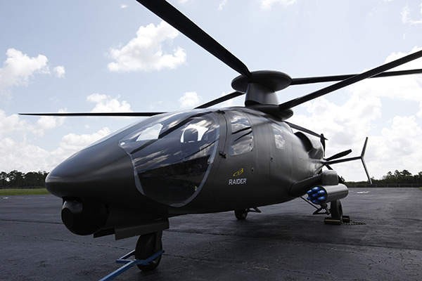 The helicopter is armed with Hellfire missiles and guns. Copyright Sikorsky Aircraft Corporation. All rights reserved.