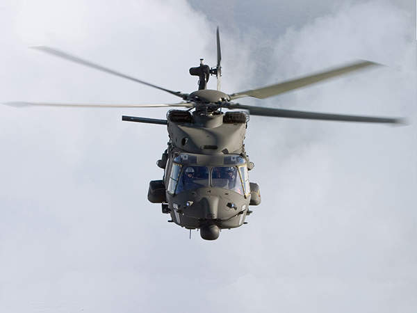 A front view of the Italian Army NH90 TTH  during its flight. Image courtesy of Italian Army.
