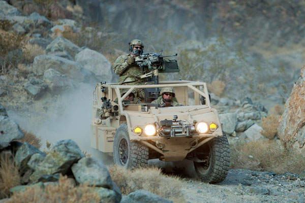The Flyer vehicle can carry a payload of 1,360kg. Image courtesy of General Dynamics Ordnance and Tactical Systems.
