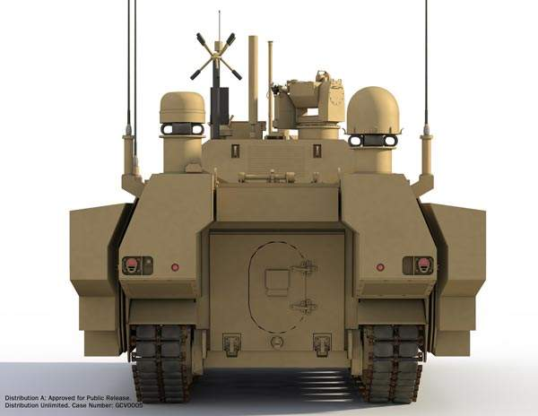 The Ground Combat Vehicle (GCV) will have a maximum speed of 75km/h and a range of 300km. Image courtesy of BAE Systems.
