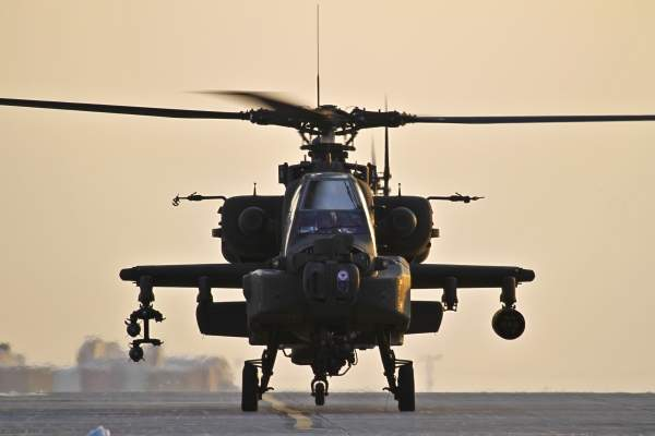 The Apache is equipped with two turboshaft engines, each providing 1,265kW.