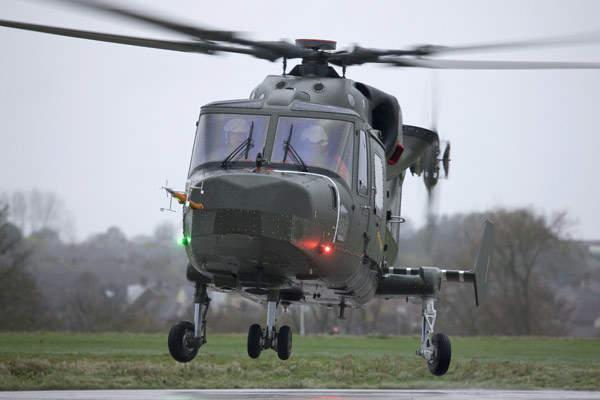 Lynx Wildcat helicopter.