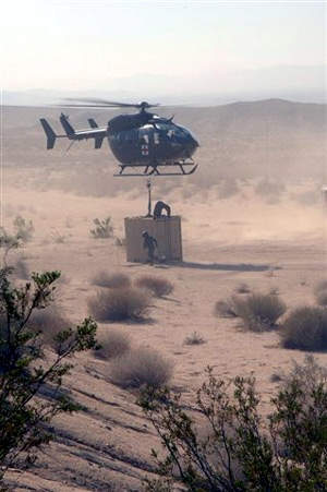 US Army lift test of the UH-72A in May 2007. The Lakota entered service in June 2007.