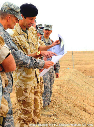 Army officials discuss construction plans to prepare for the upcoming build-up of troops at Camp Bastion.