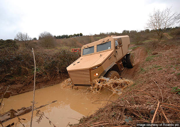 The Ocelot LPPV vehicle can reach a maximum speed of 110km/h.