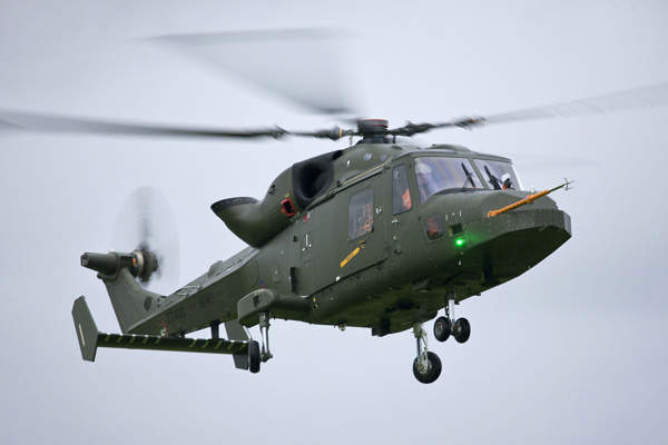 The AW159 will enter operational service in 2014 with the UK Army and 2015 with the Royal Navy.