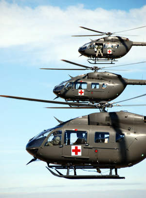 The US Army uses Lakota helicopters for logistics and support missions within USA and with the Army National Guard for homeland security and disaster-response missions.