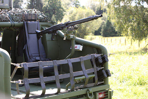 The rear gunner's position on the SOV. Image: courtesy of Krauss-Maffei Wegmann (KMW).