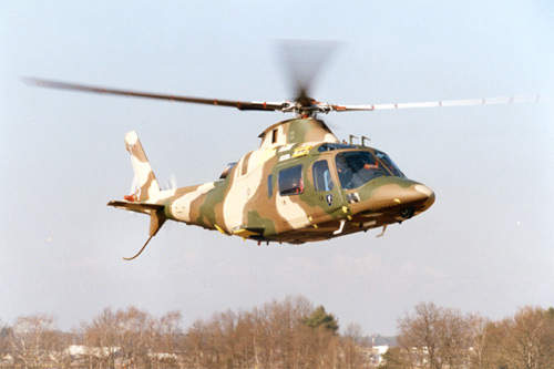 Military styled version of the A109 helicopter which is multipurpose