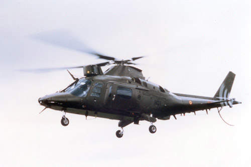The A109M helicopter can be armed with TOW anti-tank missiles, rockets and/or machine guns.
