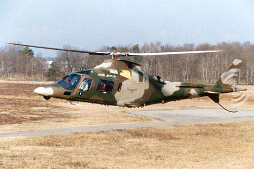 A109M helicopter being used in a military application