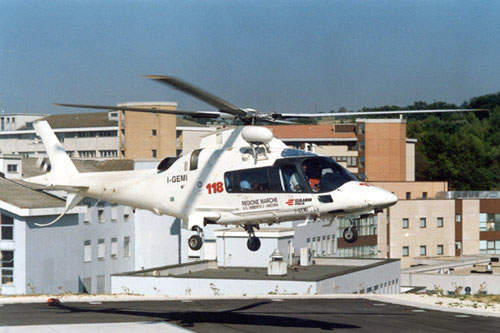 Civil EMS (emergency services) version of the A109 helicopter
