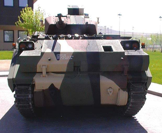 A ACV-S fitted with a sharpshooter turret and ATK 25mm M242 cannon
