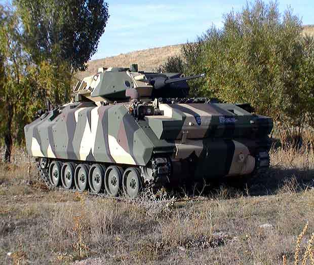 ACV-S with the two-man Bradley turret, armed with ATK Bushmaster 30mm cannon.