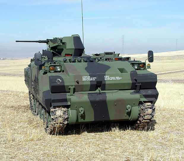 The ACV-S Eryx Squad Vehicle carries a fully-equipped squad of soldiers and is armed with the Eryx anti-armour-missile system.
