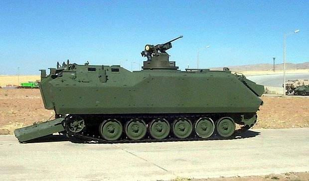 An ACV-S prototype fitted with a SWARM turret