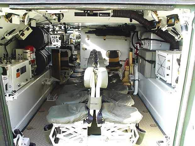 Inside the ACV-S Eryx Squad Vehicle.