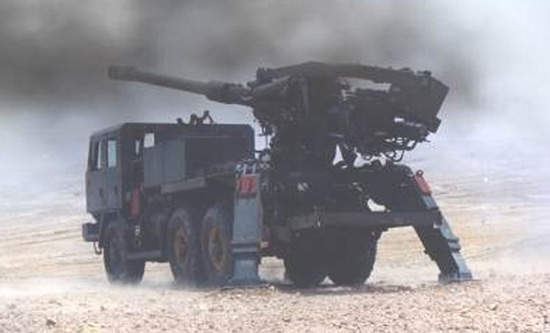 Tatra truck mounted atmos 2000 is capable of firing three projectiles per 20 seconds