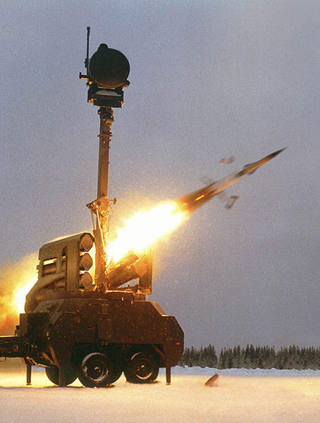 Bamse all-weather, all-target air defence missile system.