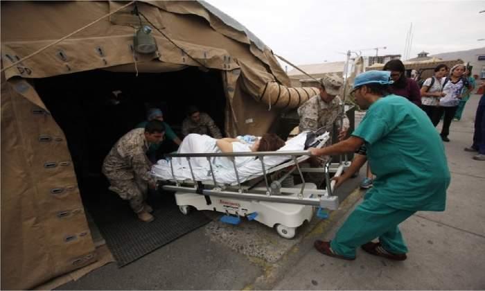 field hospital tents