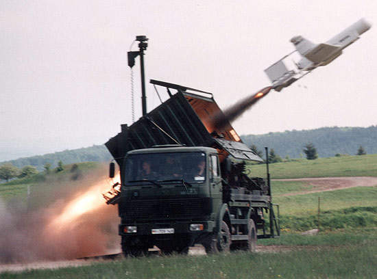 KZO UAV Being Launched from its Launch Vehicle