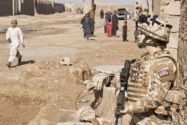 Woman soldier in Afghan