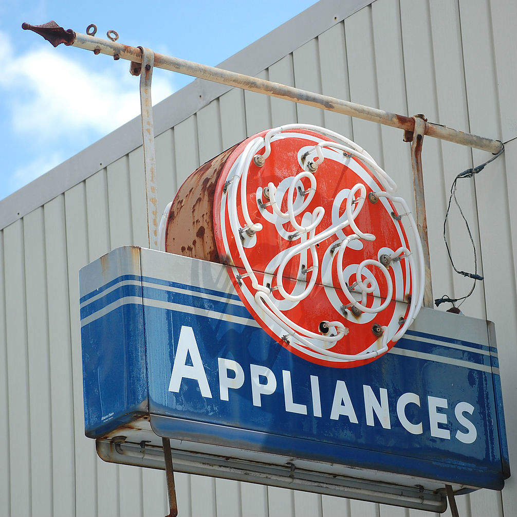 GE appliances general electric sign