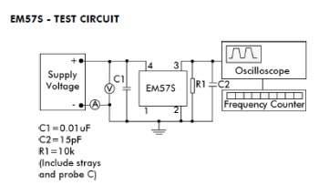 EM75S test circuit
