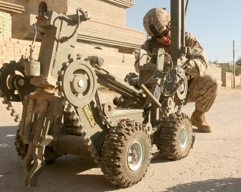 IED, explosives, robot,