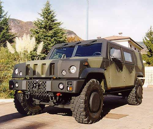 Front view of the Panther Command and Liaison Vehicle (CLV)