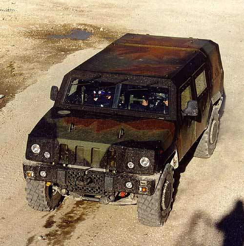 The Panther Vehicle travelling through concreted area