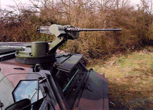 Fuchs 2 can be armed with a 12.7mm M2 machine gun.
