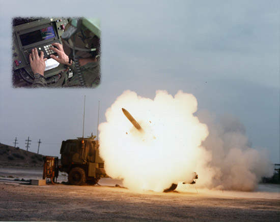 HIMARS launching a rocket with the Improved Fire Control System