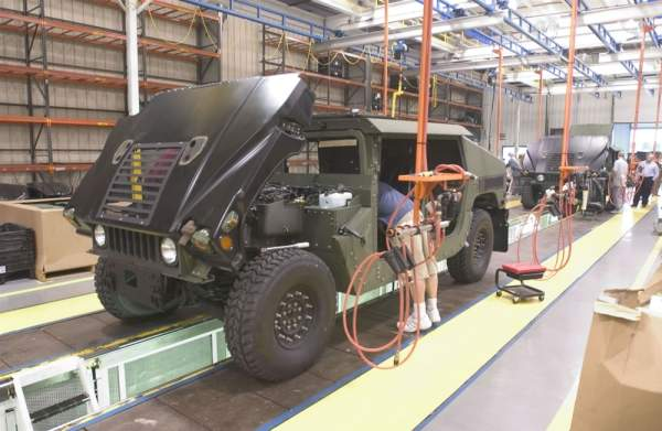 Humvee assembly