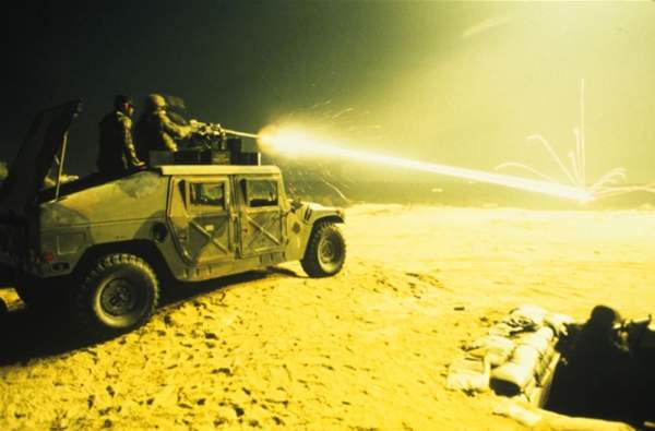 Humvee firing range