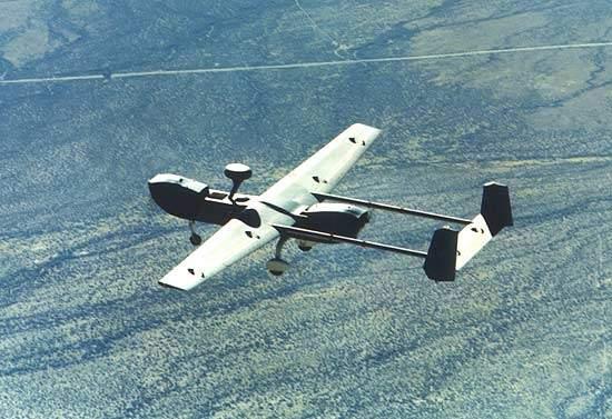 Hunter UAV in flight for the US Army