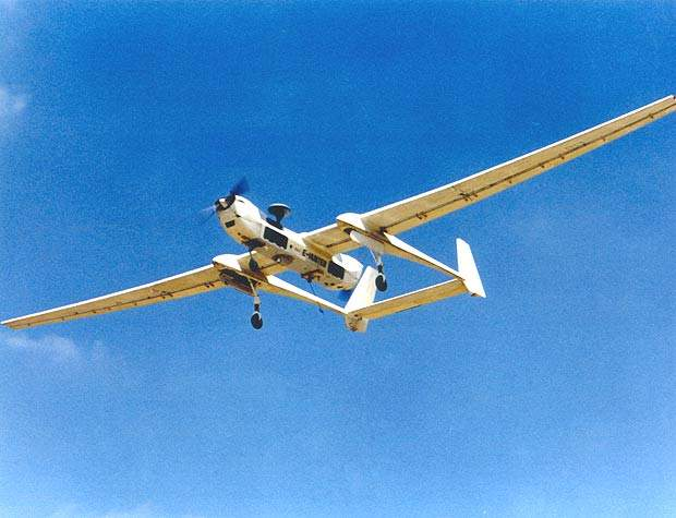 A larger version, the extended Hunter, has been developed for longer endurance and higher-altitude missions.