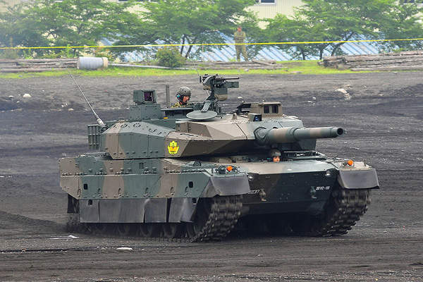 The Type-10 MBT has a maximum speed of 70km/h.