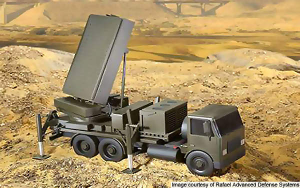 Iron Dome detection and tracking radar.