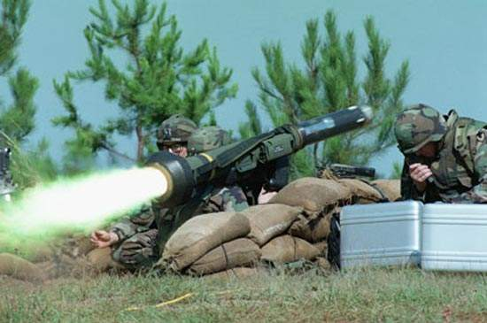 The Javelin anti-tank missile has a range of 2,500m.