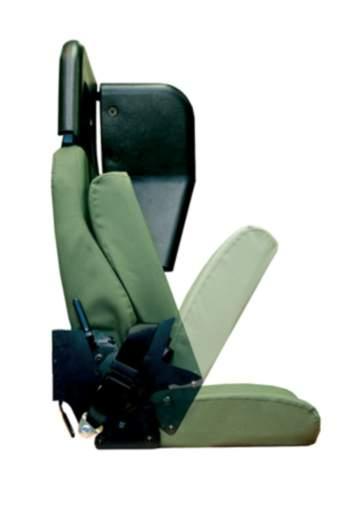 Wall mounted fold up seat
