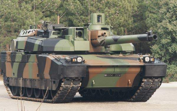 Close up of the Leclerc Main Battle Tank