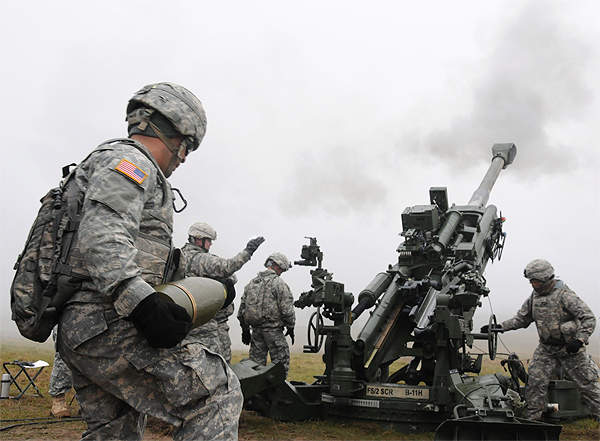 M777 Howitzer live fire exercise