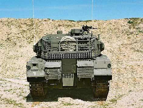 Rear view of the Merkava 4 armoured tank