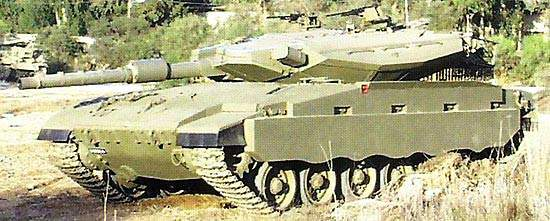 The Merkava 4 tank has a new 120mm gun