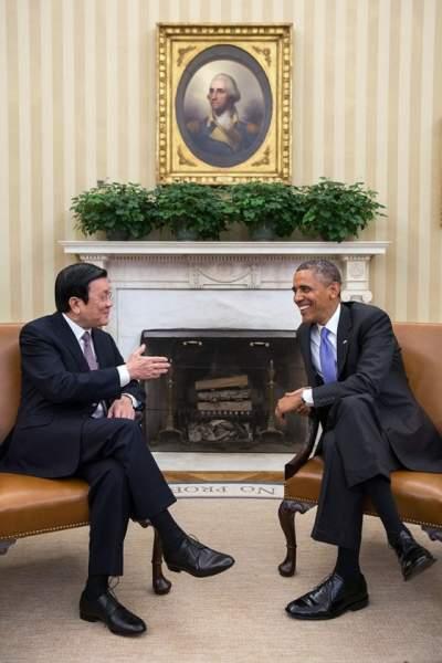 Obama and Tan Sang