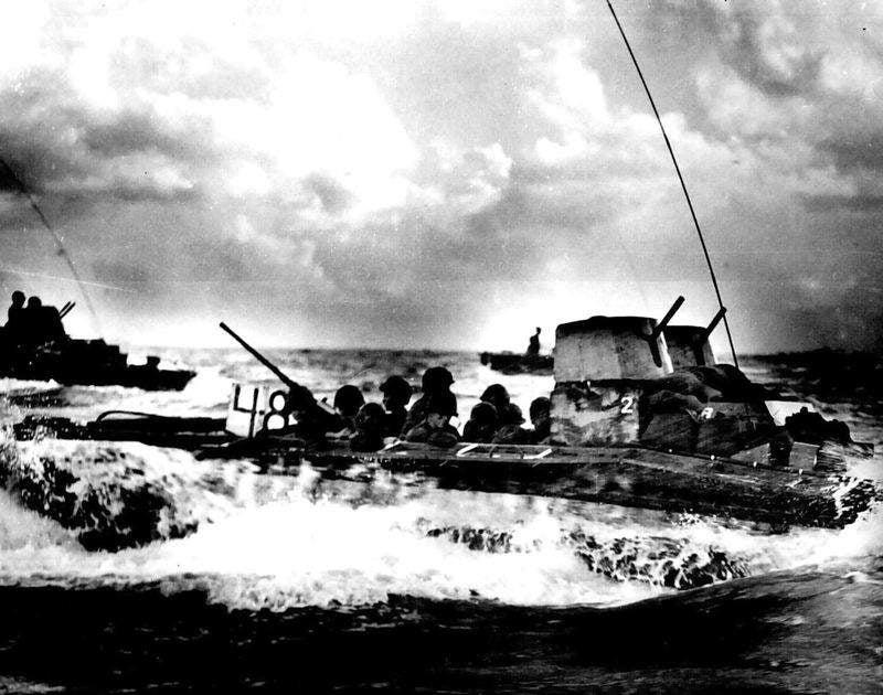 amphibious army vehicle